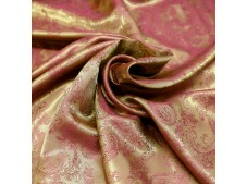 Paisley Jacquard Lining Bronze and Pink