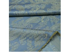 Paisley Jacquard Lining Turquoise and Gold