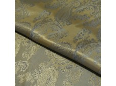 Paisley Jacquard Lining Mustard and Blue